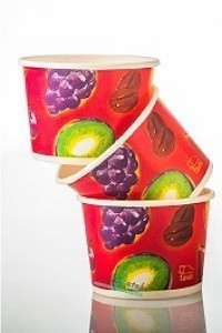 """כוס לגלידה 100 מ""""ל-500 יח'"""