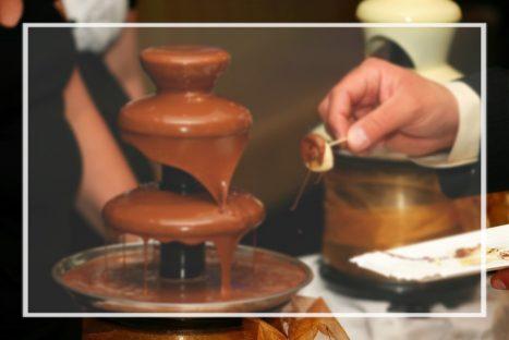 דוכן מפל שוקולד