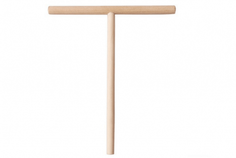 מקל טי מעץ לקרפ צרפתי