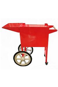 עגלה אדומה למכונת פופקורן