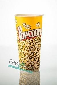 """כוסות לפופקורן 720 מ""""ל דגם גבוה -100 כוסות"""